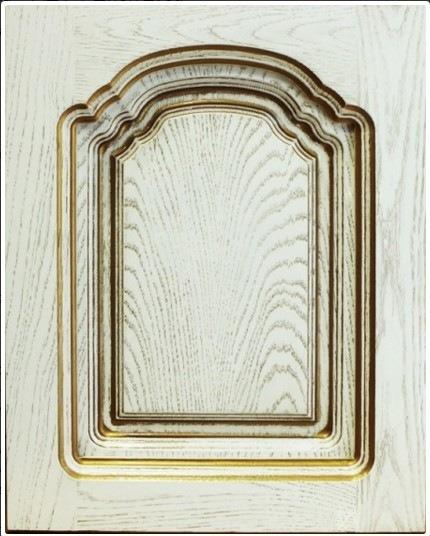 кухня классика дуб белый с золотом